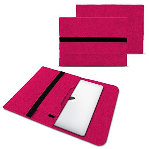 NAUC Laptop Tasche Sleeve Hülle Schutztasche Filz Cover für Tablets und Notebooks Farbauswahl kompatibel für Samsung Apple Asus Medion Lenovo, Farben:Pink, Größe:12.5-13.3 Zoll