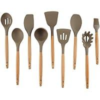Deceny CB Juego de utensilios de cocina utensilios de cocina de silicona para antiadherente batería de
