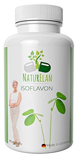 Isoflavonas de soja (capsulas) - síntomas de la menopausia - Menopausia - Bochornos - Cambios de humor - Sudor - 90 cápsulas