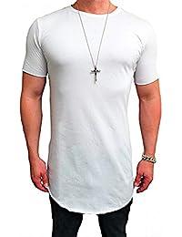 13770fe3cd254e Deep Shirt BASIC OVERSIZE STYLE Shirt lang Longshirt Long hoody sommer  Herren Sweatshirt NEU sweater Sweat