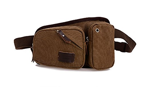 Männer Multifunktionale Outdoor-Sporttasche Brust Multicolor Brown