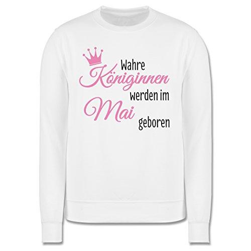 Geburtstag - Wahre Königinnen werden im Mai geboren - Herren Premium Pullover Weiß