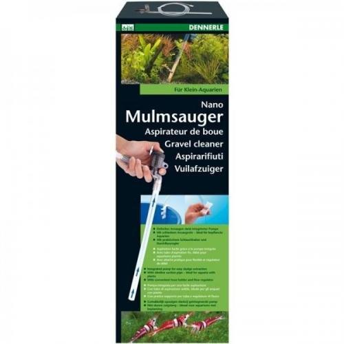 Dennerle Nano Mulmsauger ca. 30cm, Schlammsauger für Aquarium, Bodenreiniger