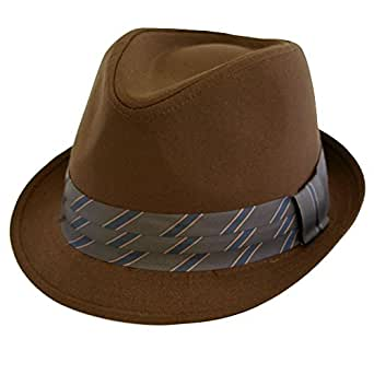 Mens Ladies Summer/Beach Trilby Hat Unisex Brown