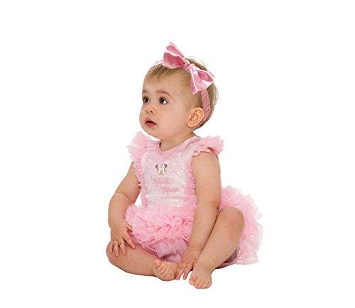 Disney Baby DCMIN-TUP-03 - Kostüm - Minnie Maus - glitzerndes Tutukleid mit Stirnband, rosa