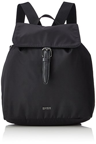 BREE Damen Barcelona Nylon 16 Rucksackhandtasche, Schwarz (black), One Size