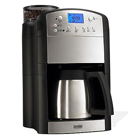 BEEM Fresh-Aroma-Perfect Thermolux, Kaffeemaschine mit Mahlwerk, Isolierkanne und Permanent-Goldfilter, Edelstahl