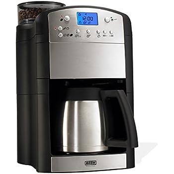 BEEM Fresh-Aroma-Perfect Deluxe, Kaffeemaschine mit Mahlwerk, Isolierkanne und Permanent-Goldfilter, Edition Eckart Witzigmann, Edelstahl