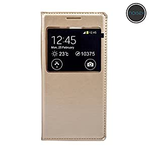 Noise-Samsung A5 Flip Cover- Golden
