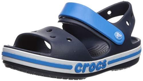 Crocs Kids Children Girls Boys' Bayaband Sandal Navy Relaxed Iconic Kids Children Girls Boys Sandal C9