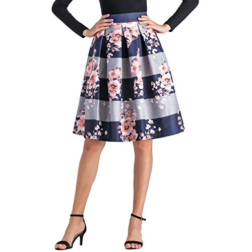 PinkLu Röcke Damen Bogen Tutu Gestreifter Druck EuropäIscher Und Amerikanischer Stil Hohe Taille Schlank Wild FrüHling Und Sommer HeißEr Blauer Rock