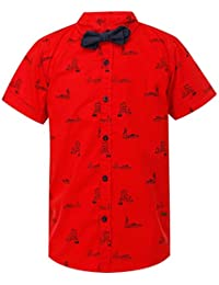Life by Shoppers Stop Boys Collared Printed Shirt with Bowtie