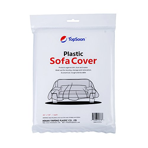 TopSoon Plastic Sofa Bag Cover for Storage or Moving or Protection 46 Inches X 134 Inches