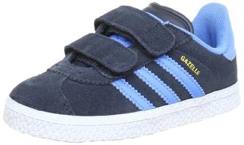 adidas Originals Gazelle 2 Cf I, Chaussures bébé mixte bébé - Gris (Dark Shale/Joy Blue S13), 21 EU