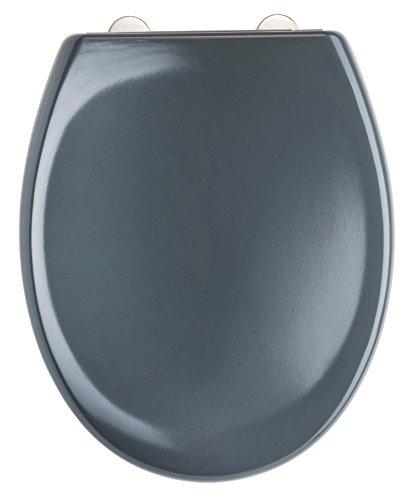 Eisl WC Sitz Duroplast, mit Absenkautomatik und Schnellverschluss, DARK GREY, ED69310DG