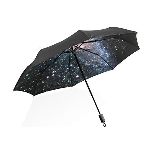 Drei Licht-spirale (XiangHeFu Regenschirm, Universum, Spirale, Galaxie, automatisches Öffnen, 3 Falten, leicht, UV-Schutz)