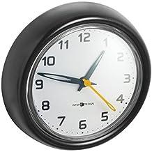 mDesign Accesorios para baño - Reloj de baño fijado con ventosa - Reloj de pared para la ducha con 5 ventosas para fijación óptima sin perforaciones ni taladro