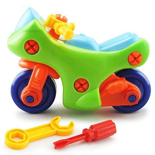 BEESCLOVER Schraubenmutter Gruppe Installierte Kunststoff Frühes Lernen Bildung DIY 3D Puzzle Demontage Motorrad Kinder Spielzeug