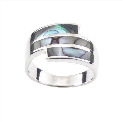 DTPsilver - Concha de Nácar Abulón paua - anillo en plata de ley 925, talla 27