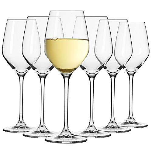 Krosno Kleine Weiß-Weingläser | Set von 6 | 200 ML | Splendour Kollektion | Perfekt für zu Hause, Restaurants und Partys | Spülmaschinenfest und Mikrowellengeeignet