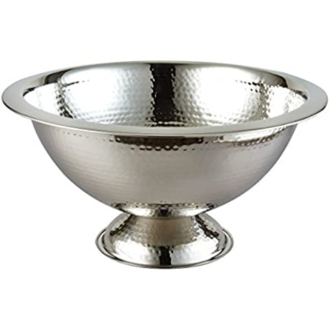 Elegance Hammered Punch Bowl, 15-Inch by