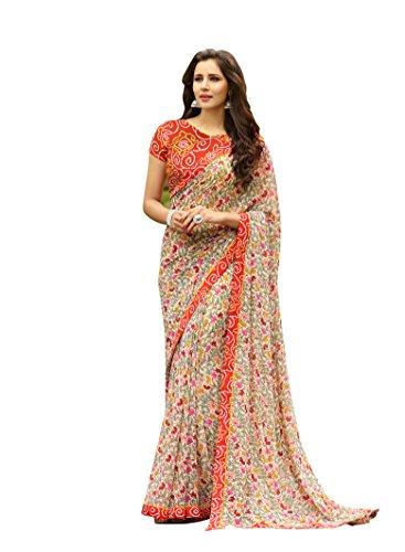 Craftsvilla Women's Georgette Printed Saree( Mavan29633579270_Multicolor)