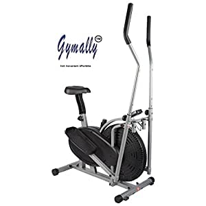 Gymally 2 In 1 Orbitrek (Sitting Pedaling/Standing Rowing), Elliptical Trainer With Seat