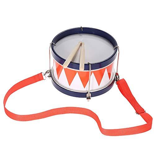 Tianzhiyi Verschiedene Spielwerkzeuge Bunte Kinder Kinder Kleinkind Trommel Musical Toy Percussion Instrument mit Drumsticks Strap