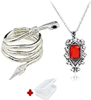 PPX 2 Pcs City of Bones Isabelle Lightwood's Electrum Whip Serpent Snake Bracelet and Necklace Set with Mi