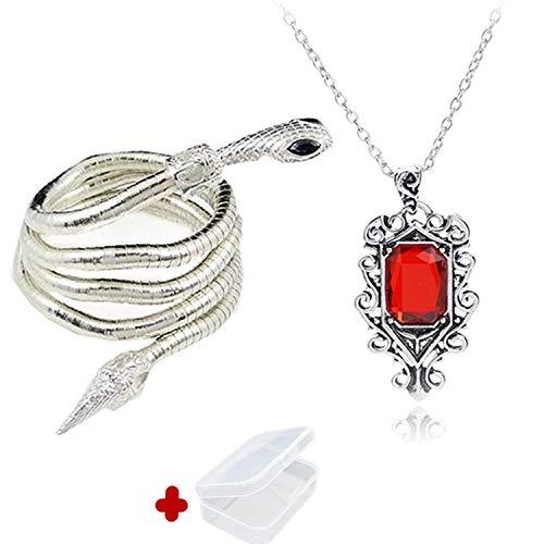 Bones Isabelle Lightwood Electrum Peitsche Schlange Armband und Halskette Set mit Mini-Box ()