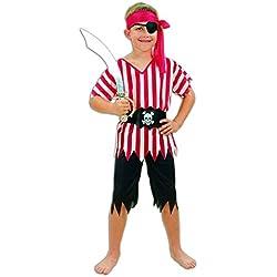 Pirate Disfraz niño, talla 4-6 años (U37 695)