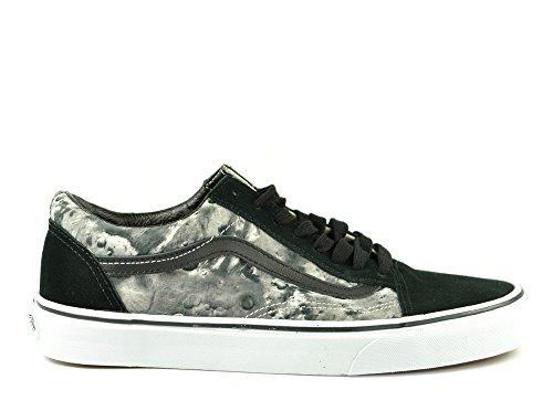 Vans OLD SKOOL Scarpe Sneakers Nero Stampa Luna per Uomo