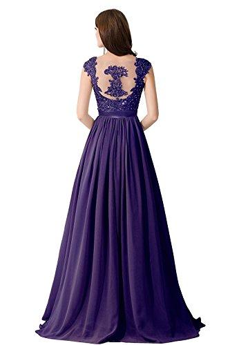 Babyonlinedress Damen Perlenstickerei V-Ausschnitt Abendkleid Lang Maxi  Cocktailkleid 2017 Dunkel-Violett ...