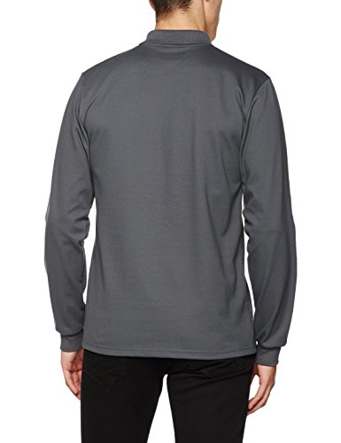 Trigema Herren Top Langarm Poloshirt Grau (Anthrazit 018)