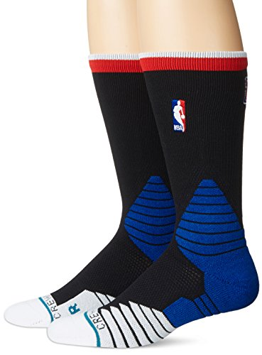 Stance Los Angeles Clippers On-Court Logo NBA Socken Schwarz L -