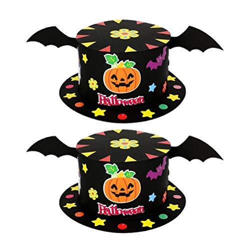 STOBOK Kinder DIY Halloween Hut Papier Party Hut Kinder Handmade Craft Kit, 2tlg -