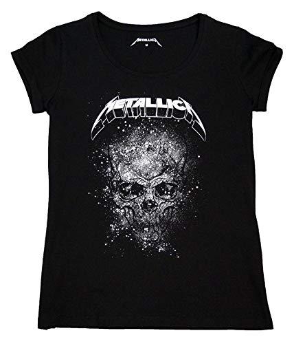 Metallica Mujer Camiseta Manga Corta Cuello Redondo Tshirt Casual...