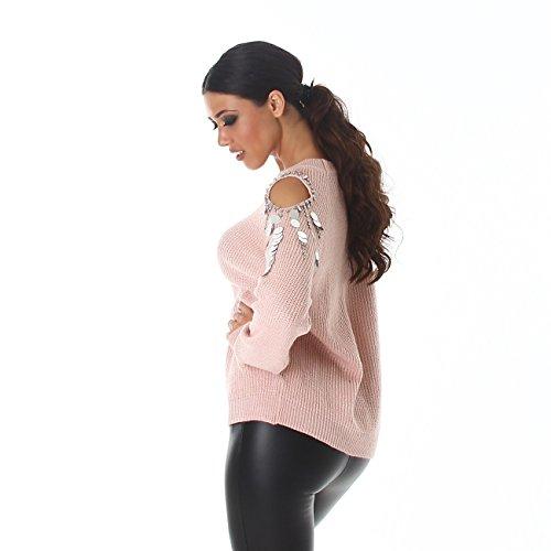 Voyelles - Pull - Femme Taille unique Rose