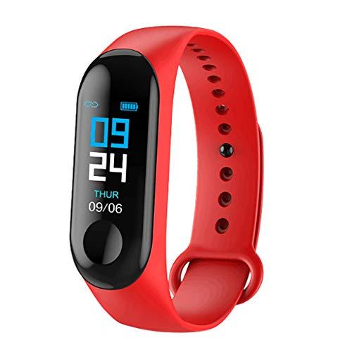 Smart Armband Herren SmartWatch Fitness Sportuhr kompatibel Damen IP67 wasserdichte Touchscreen Android/IOS GPS Tracker Herzfrequenz messung Stoppuhr Schlafmonitor Kalorienzähler (Rot)
