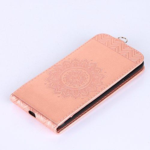 iPhone 7Phone case, iPhone 7custodia protettiva in TPU custodia cover, Newstars iPhone 7case Bling, custodia in silicone per iPhone 7, iPhone 711,9cm Bling morbido e flessibile in TPU per iPhone  Mandala Light Pink