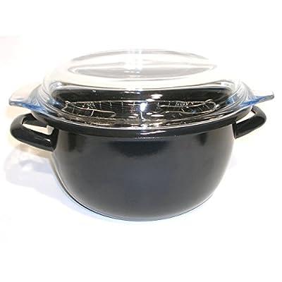 BEKA - Mini Friteuse traditionnelle 20cm émaillée noire