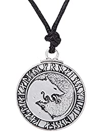 fishhook Wicca - Colgante de 24 amuletos con diseño de Lobo de Animales