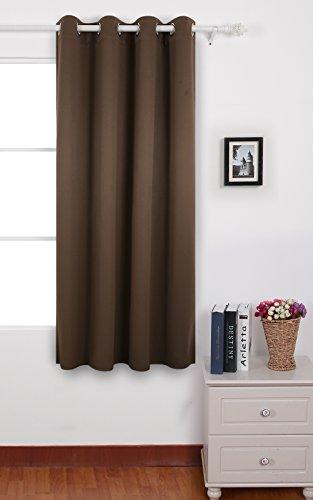 Deconovo tenda oscurante termica isolante con occhielli decorative finestre per cameretta dei bambini 140 x 175 cm marrone