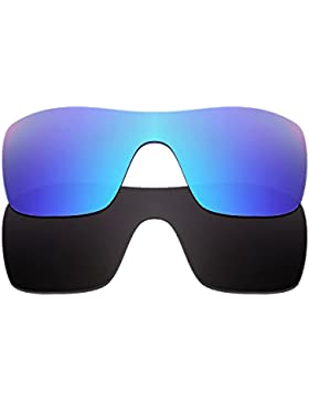 Hkuco Plus Mens Replacement Lenses For Oakley Batwolf Sunglasses Blue/Black Polarized