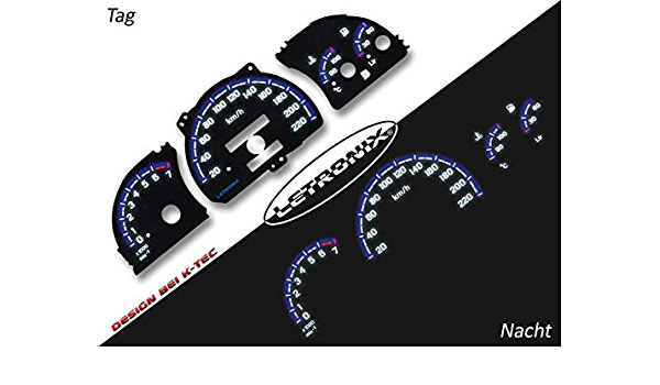 Letronix Plasma Tacho Tachoscheiben Geeignet Für Auto Astra F Vectra A 20 220km H 7000u Min Auto