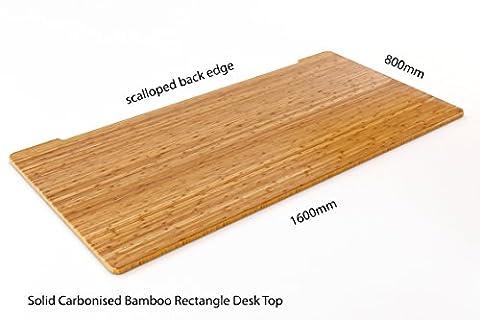 solide carbonisé Bambou Desk Top | respectueux de l'environnement |