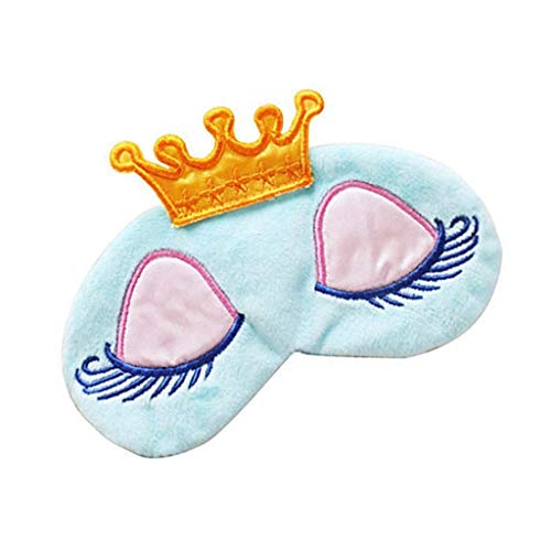 Electomania Cute Girl's Travel Princess Crown Sleeping Eye-Shade Blindfold Nap Cover Eye Mask