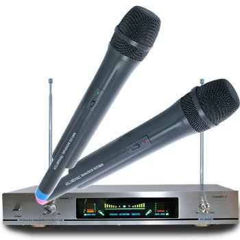 GBL® Wireless Microphone Karaoke Mic AK-8600 VHF Cordless DJ Public Address PA Mic Microphone System Church Presentation Speech