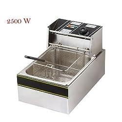 Andrew James Silver Stainless Steel 5 Liters Deep Fryer Fat Fryer With Temperature Regulation _(Stainlesssteel5literfryer)