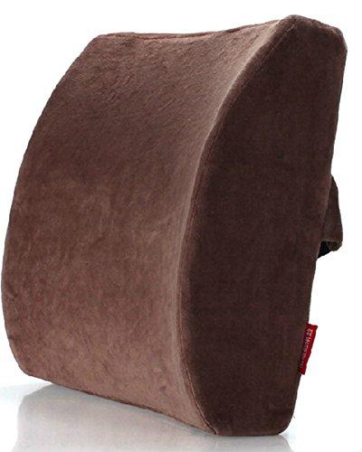 Brown Memory Foam Seat coussin lombaire Oreiller Retour Aide Pad Pour Office